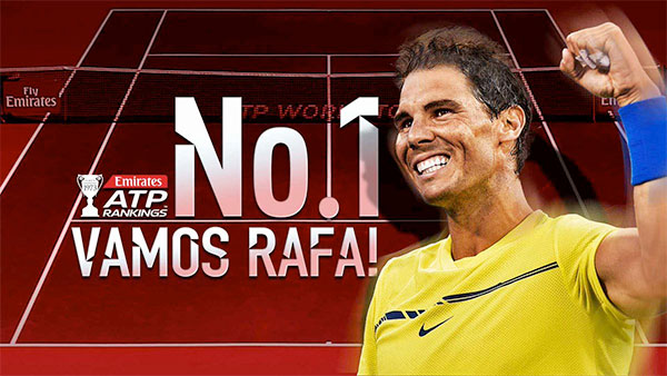 Rafa Nadal recupera el número uno del tenis mundial