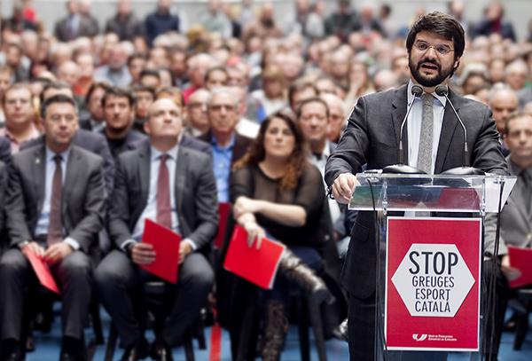 """Gerard Esteva: """"El deporte catalán está muy tranquilo ante el referéndum"""""""