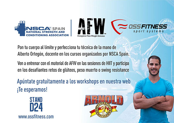 OSS Fitness ofrecerá workshops gratuitos en Arnold Classic Europe