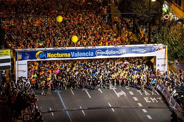 La 15k Nocturna Valencia Banco Mediolanum 2018 se correrá el 2 de junio