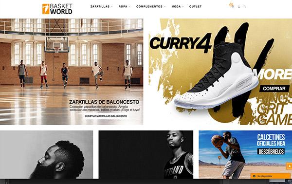 9c291ea2ce La web de Basket World Store destaca por su fácil usabilidad y su claro  diseño.