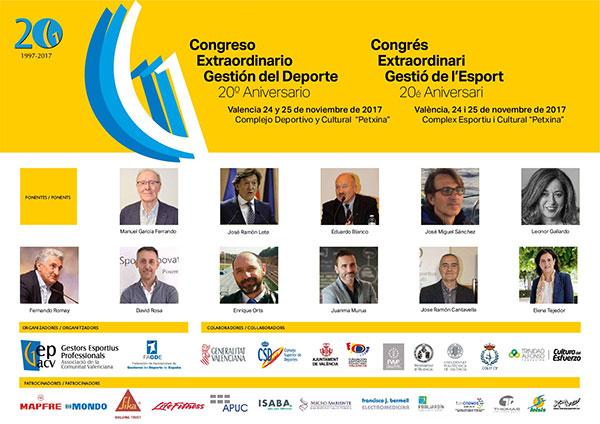 El Congreso Extraordinario 20º Aniversario de Gepacv anuncia sus ponentes