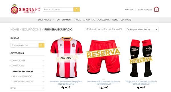 Problemas de reabastecimiento de la camiseta del Girona FC