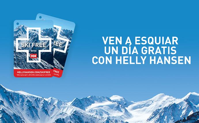 Helly Hansen continúa con su programa Ski Free durante esta temporada
