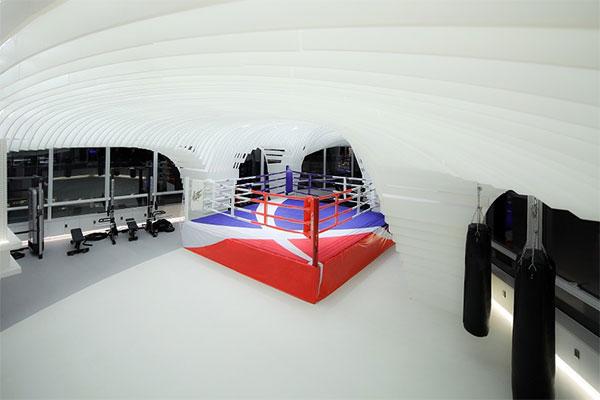 Entre gimnasio y obra de arte: la nueva propuesta china de gimnasio del futuro