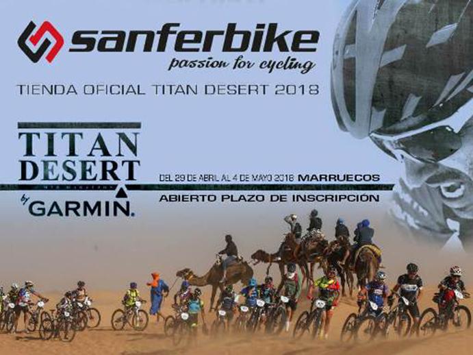 Sanferbike se convierte en tienda oficial de la Titan Desert 2018