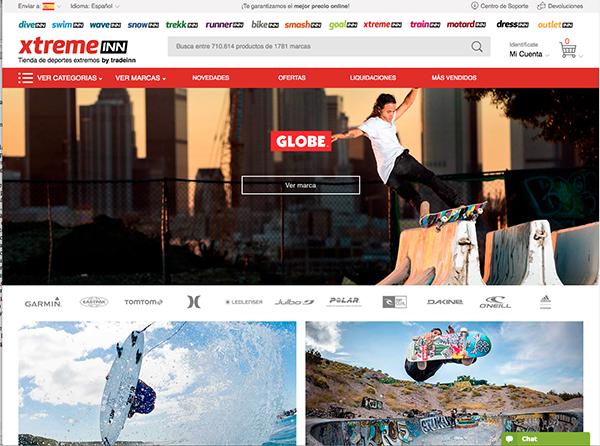Tradeinn pone en marcha su web de deportes extremos, Xtremeinn