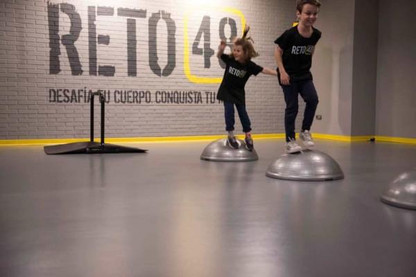 Los niños se apuntan al reto del fitness