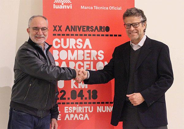 Luanvi sucede a Joma como patrocinador de la Cursa de Bombers de Barcelona
