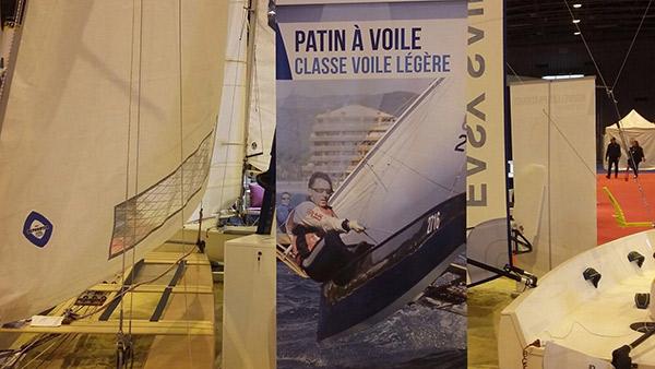 Satisfactorio debut del patín a vela en el Salón Náutico de París