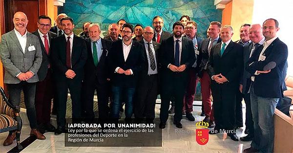 Murcia aprueba su nueva ley de regulación de las profesiones del deporte
