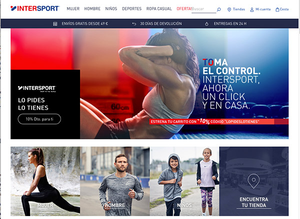 Intersport España pone en marcha su e-commerce