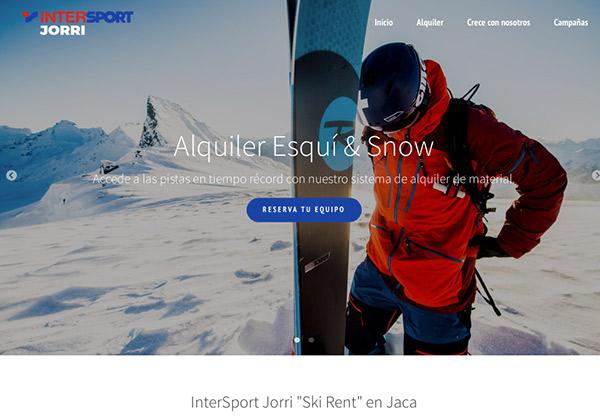 Intersport Jorri  o cómo combinar un alquiler de esquís con una heladería