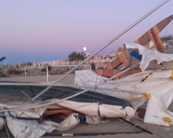 El temporal causa daños en varios clubes