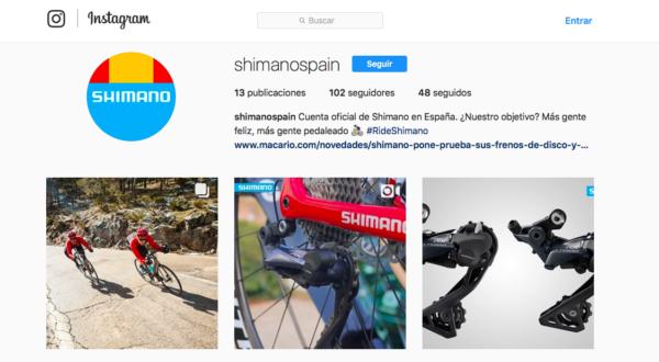 Shimano abre una cuenta de Instagram para España