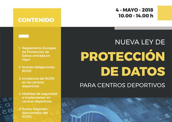 Curso sobre la nueva Ley de Protección de Datos para Centros Deportivos