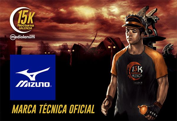 Mizuno, nueva marca técnica oficial de la 15K Nocturna Valencia Banco Mediolanum