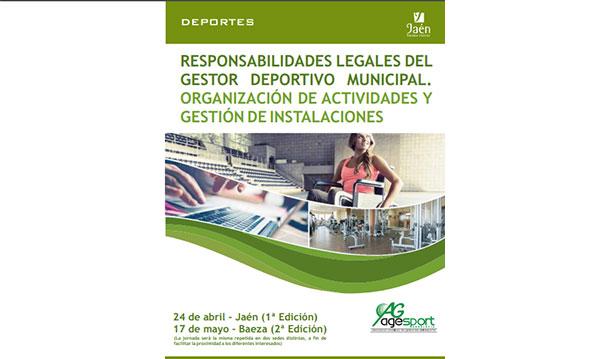 Agesport organiza en Jaén una formación para gestores deportivos municipales