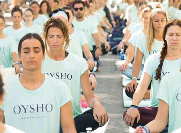 Madrid celebrará el día 3 de junio la sexta edición del Free Yoga by Oysho.  El evento que organiza la marca cada año a78cd1599622