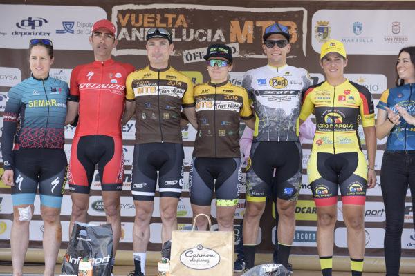José Luis Carrasco y María Díaz, vencedores de la Vuelta Andalucía MTB 2018