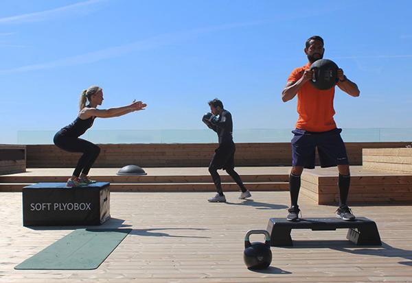 Bonasport lleva el fitness al exterior e inaugura una sala al aire libre