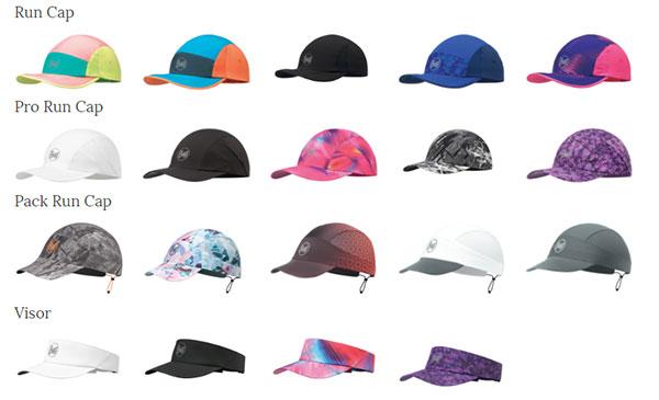 Buff amplía su colección de gorras y visores para running