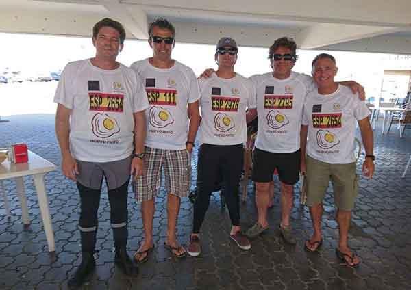 Campeones de Andalucía de patín a vela