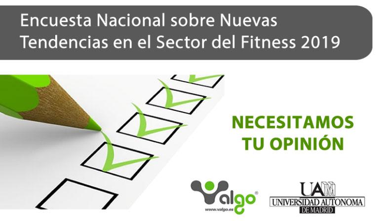 Últimos días para colaborar en la encuesta nacional sobre  Nuevas Tendencias en Fitness 2019