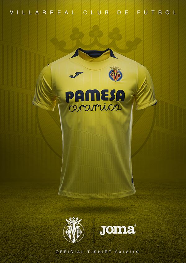 Joma presenta la nueva camiseta del Villarreal para la temporada 2018-2019