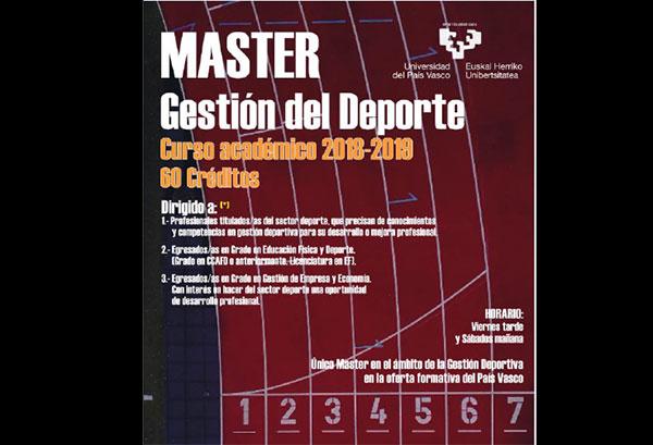 Crean el primer máster en Gestión Deportiva del País Vasco