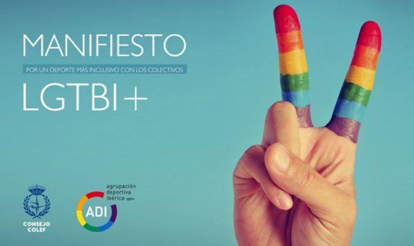Publican un Manifiesto por un deporte más inclusivo con los colectivos LGTBI+