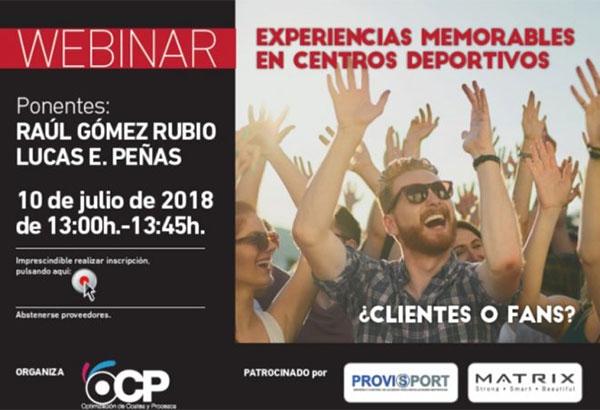 OCP impartirá un seminario online sobre cómo generar experiencias memorables