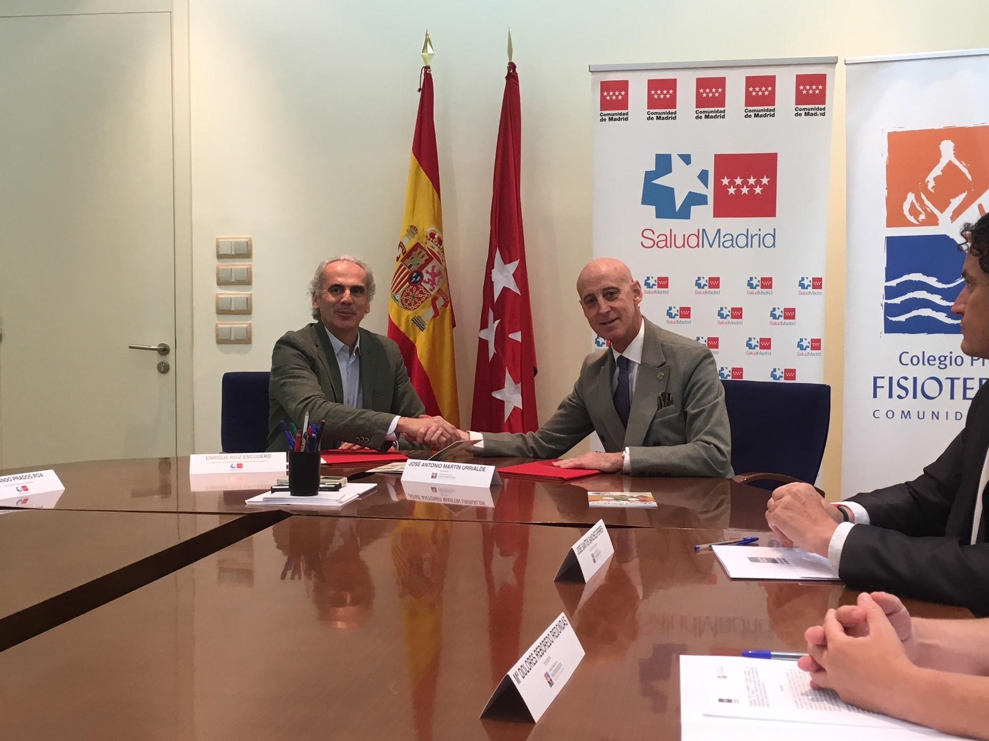 El Colegio de Fisioterapeutas de Madrid entra en la Escuela Madrileña de Salud