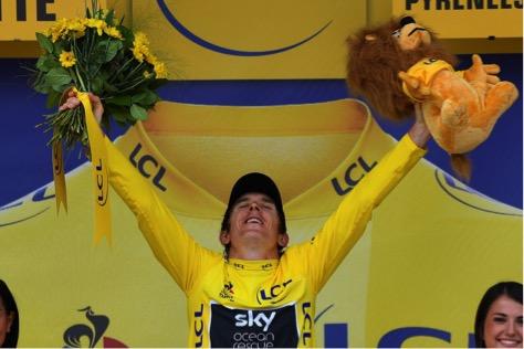 Geraint Thomas utilizó componentes Shimano para ganar el Tour de Francia
