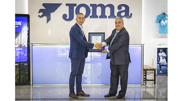 Joma Sport, reconocida con el certificado de calidad ISO 9001