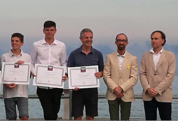 Regatistas del Club Náutic Sitges premiados en la Nit de l'Esport 2018