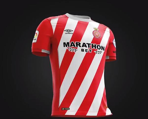 Umbro sorprende con el diseño de la nueva camiseta del Girona