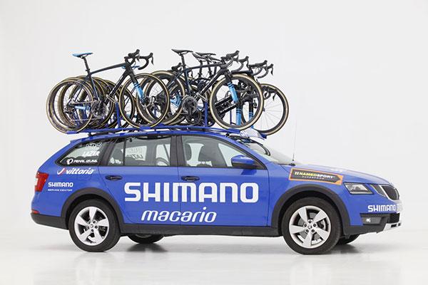 Así ha equipado Shimano sus Coches Azules para La Vuelta