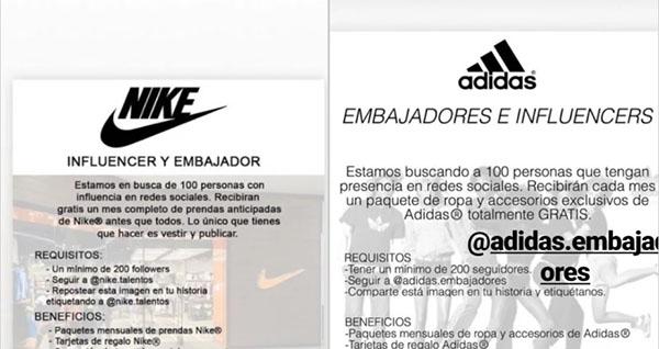 """La """"estafa de los embajadores"""" que afecta a Nike y Adidas"""