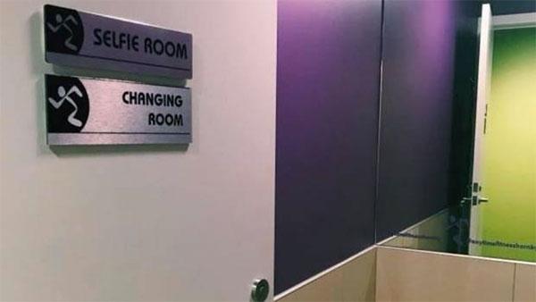 Un gimnasios Anytime Fitness abre una sala para hacerse selfies
