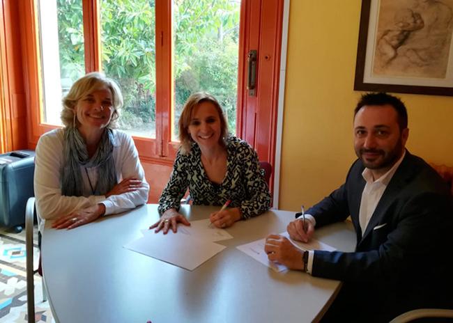 Claror Can Caralleu firma un nuevo convenio de colaboración con la Fundació Maria Raventós
