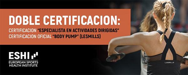 Eshi lanza una doble certificación en AADD y BodyPump