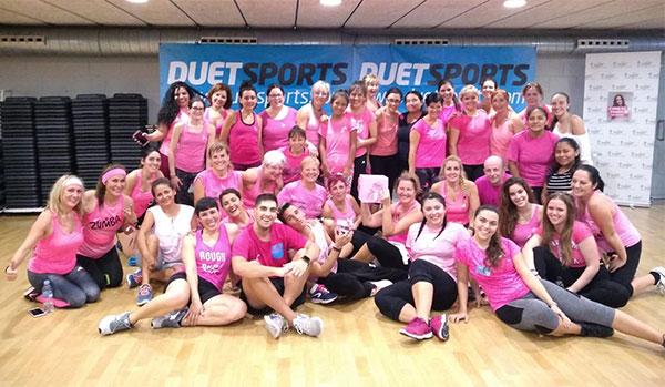 Los gimnasios Duet se vuelcan con la lucha contra el cáncer de mama