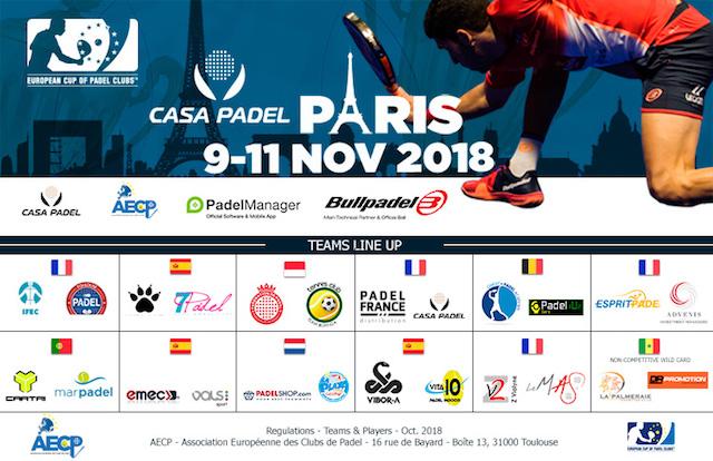 La Euro Padel Cup contará con 12 equipos participantes