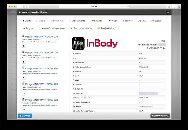 Fitbe se integra con InBody