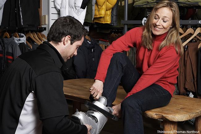 """Los pioneros en cobrar por probar botas de esquí afirman que """"no hemos espantado clientes"""""""