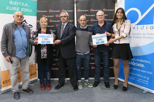 La Kosta Trail dona 14.400 euros a las asociaciones Asvidia y Alcer