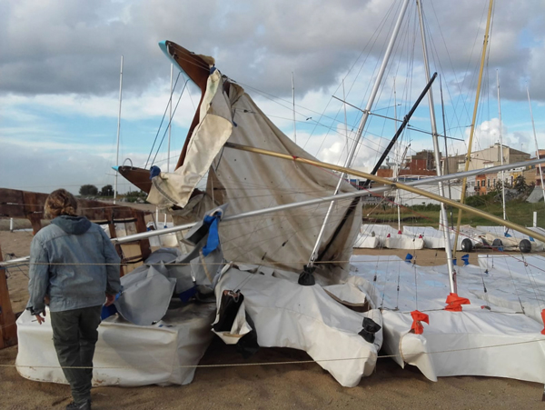 Los temporales derivados del 'Leslie' se 'ceban' en los clubes de El Prat y Palomares