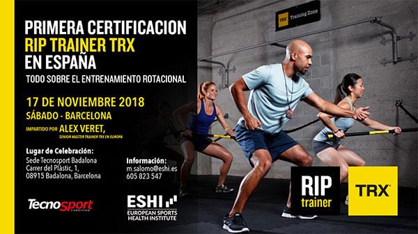 Tecno Sport y Eshi organizan la primera certificación TRX Rip Trainer en España