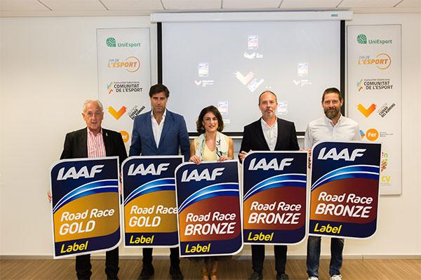 Valencia se convierte en la ciudad de mundo con más etiquetas de la IAAF